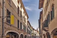 Pordenone. Main street in Pordenone, Italy Stock Photo