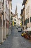 Pordenone. Main street in Pordenone - town in Italy Royalty Free Stock Image