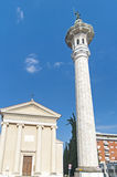 Pordenone. Town in Italy - church and column Royalty Free Stock Photo