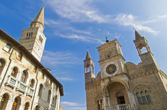 Pordenone. Town in Italy - city hall Stock Photography