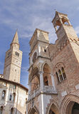 Pordenone. Town in Italy city hall and church Stock Photo