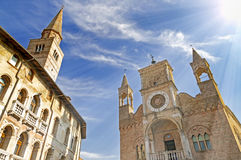 Pordenone. Town in Italy on sunny day Stock Image