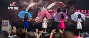Pordenone, Włochy Maj 27, 2017: Chybienie wycieczka turysyczna Włochy 2017 przed podpisami jeźdzowie Obraz Royalty Free