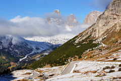 Pordoi Pass, the Dolomites, Italy, Europe Royalty Free Stock Photography