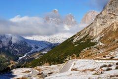 Pordoi Pass, the Dolomites, Italy, Europe Royalty Free Stock Photography