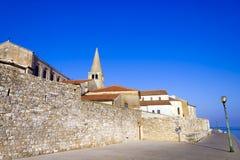 Porec - старый адриатический городок Стоковые Изображения RF