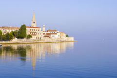Porec in the beautiful dawn sun Stock Photo