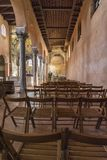 POREC, CROACIA, EL 24 DE SEPTIEMBRE DE 2017: La basílica de Euphrasian - el ábside bizantino típico adornado por los mosaicos tie Imagen de archivo libre de regalías