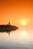 Porec, Croatia. View of Porec at sunset, Croatia Stock Images