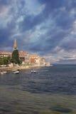 Porec, Croatia. View of buildings in Porec, Croatia stock photo