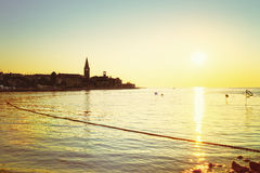 Porec in Croatia at sunset Royalty Free Stock Image