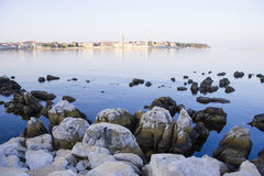 Porec in the dawn beatiful sun Royalty Free Stock Images