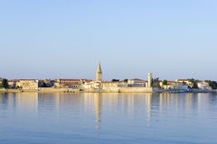 Porec in the dawn sun Stock Photo
