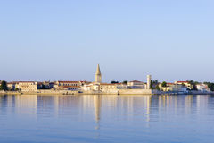 Porec in the dawn sun Stock Photos