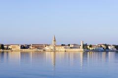 Porec in the dawn sun. Istria Stock Photos