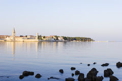 Porec in the dawn sun Royalty Free Stock Photography