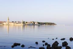 Porec in the dawn sun. Istria Royalty Free Stock Photography