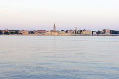 Porec in the dawn sun Stock Photography