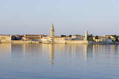 Porec in the dawn sun Royalty Free Stock Photo
