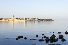 Porec in the dawn sun Royalty Free Stock Images
