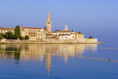 Porec in the dawn sun Stock Images