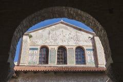 Porec Euphrasian Basilica exterior, Croatia Stock Image
