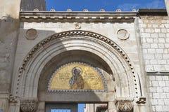 Porec Euphrasian bazyliki brama, Chorwacja Fotografia Stock