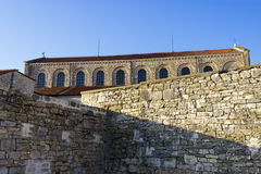 Porec on Istria peninsula. Euphrasian Basilica - UNESCO World Heritage Site. Stock Image