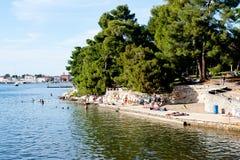 Porec linia brzegowa, Chorwacja Fotografia Royalty Free