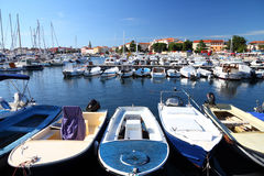 Porec marina in Croatia Stock Image