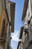 Porec narrow street in Croatia Royalty Free Stock Images