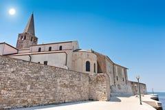 Porec - old Adriatic town in Croatia. Istria region. Popular touristic destination Royalty Free Stock Images