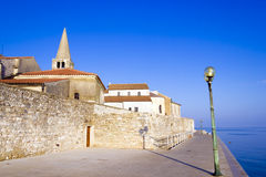 Porec - old Adriatic town in Croatia, Istria region. Royalty Free Stock Image
