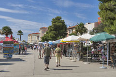 Porec seafront, Croatia Royalty Free Stock Photos