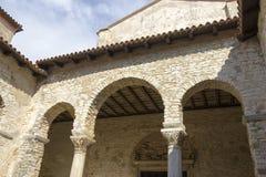 Porec sulla penisola di Istria. Basilica di Euphrasian - UNESC Fotografia Stock Libera da Diritti