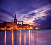 Porec View at Sunset. Medieval City in Croatia. Stock Images