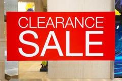 Poremanentowa sprzedaż ciąca out w mody centrum handlowym Zdjęcie Royalty Free