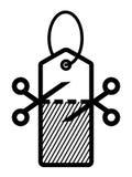Poremanentowej sprzedaży logo Zdjęcia Royalty Free