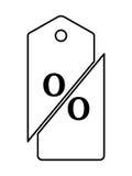 Poremanentowej sprzedaży logo Zdjęcie Stock