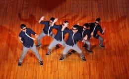 Poreotix group dance at Hip Hop International cup. MOSCOW - MARCH 27: Poreotix group dance at Hip Hop International Cup of Russia 2011, on March 27, 2011 in royalty free stock photography