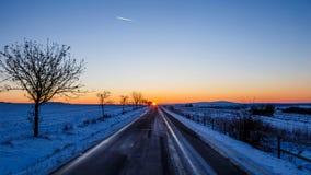 Pores do sol do norte Imagens de Stock Royalty Free