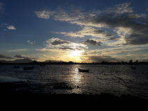 pores do sol em Banda Aceh Fotografia de Stock