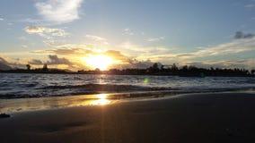 pores do sol em Banda Aceh Imagem de Stock