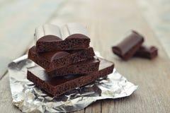 Poreuze chocolade Royalty-vrije Stock Foto's