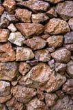 Poreuze puimstenenmuur Stock Afbeeldingen