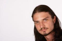 Porfile di capelli lunghi Fotografia Stock