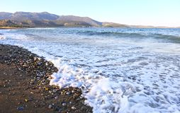 Pori beach at Lakonia Peloponnese Greece Royalty Free Stock Photography