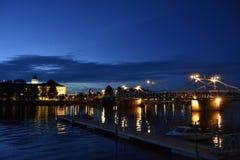 Pori di notte fotografie stock