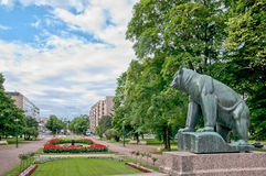 Pori. Finland. Bear-symbol of the town Royalty Free Stock Photography