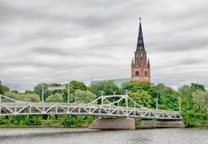 Pori. Finland. Bridge over the river Royalty Free Stock Photography